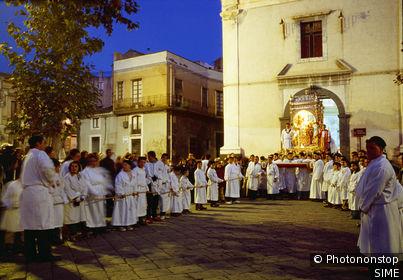 Paternò,Festa di Santa Barbara, religious festivity. Italie, Sicile