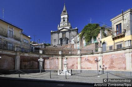 Italy, Sicily, Trecastagni, St.Nicola church