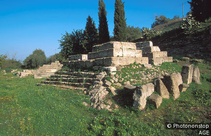Italy, Sicily, Lentini, greek ruins