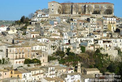 Blick auf Ragusa Ibla Italien