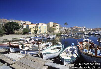 Italie, Sardaigne, Stintino, Zone Méditerranéenne, Province de Sassari - Harbour