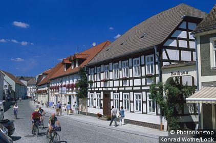 Rathaus Luebbenau, Town hall of Luebbenau, Oberspreewald, Brandenburg