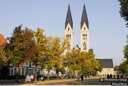 Dom und Domplatz von Halberstadt, Sachsen-Anhalt, Deutschland, Europa