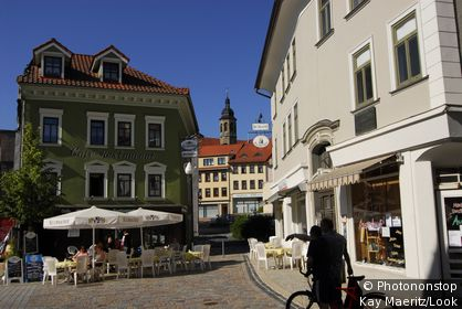 A Cafe at the Holzmarkt, Arnstadt, Thuringia, Germany