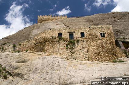 Italy, Sicily, Sperlinga, the castle