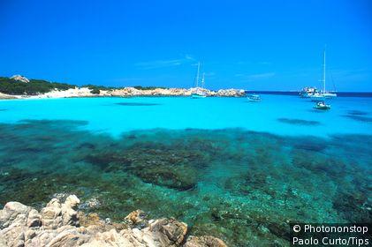 Maddalena Archipelago, sea.