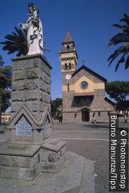 Italy, Sardinia, Arborea, parish church in Piazza Maria Ausiliatrice