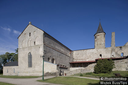 Estonia, Haapsalu, bishop's Castle, and cathedral