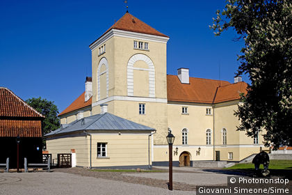 Europe, Latvia, Kurzeme region, Ventspils. Livonian Order castle
