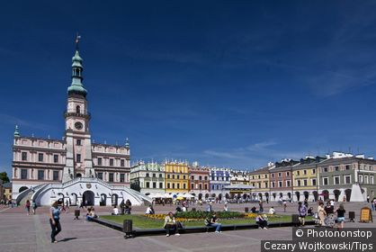 Poland, old city city of Zamosc( UNESCO World Heritage list)