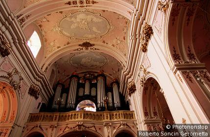 Hungary, Eastern Europe, Kalocsa, Cathedral interior.
