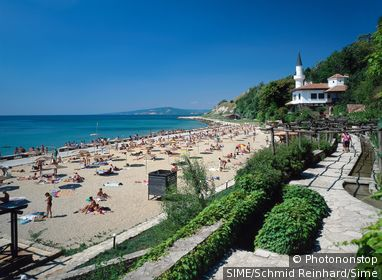 Bulgaria / Baltschik / Botanical garden and Baltschik Castle,northern Black See coast