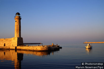 Greece, Crete, Rethimnon, harbour entrance