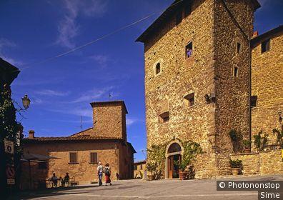 Italie, Toscane, Chianti, Radda in Chianti - Volpaia locality