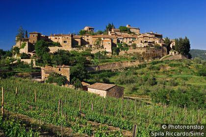 Italie;Toscane;Chianti - Montefioralle, village near Greve in Chianti