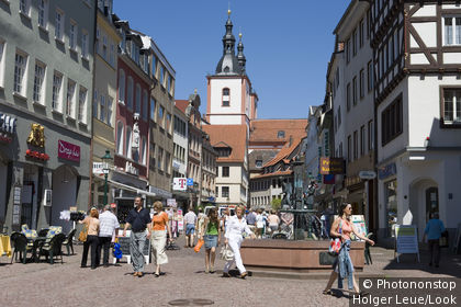Pedestrian Mall in Downtown Fulda, Fulda, Hesse, Germany