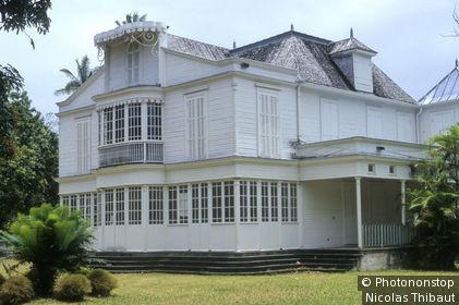 Ile de la Reunion, Saint-Andre, maison Martin Valliame, la plus importante maison creole, construite en 1925