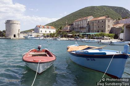 Croatia, Mali Ston, the harbour