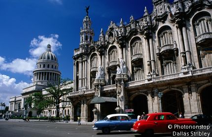 Gran Teatro de la Habana and Capitolio Nacional. Havana, City of Havana, Cuba