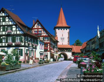 Germany / Baden-Württemberg / Black Forest / Upper Gate tower in Gengenbach