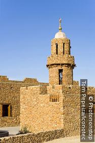 Egypte, désert de Libye, oasis de Bahariya, mosquée