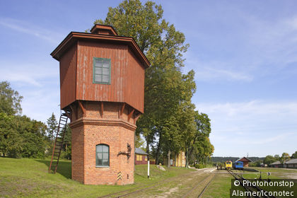 Anyksciai, narrow gauge railway station, Lithuania