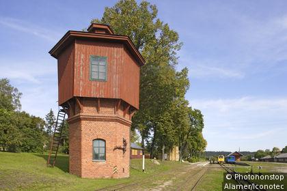 Anyksciai, narrow gauge railway station, Lithuania