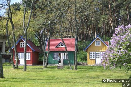 Litauen, Kurische Nehrung, Nida, Holzhäuser Europa, Baltikum