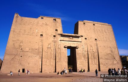 Temple of Horus at Edfu. Edfu, Egypt