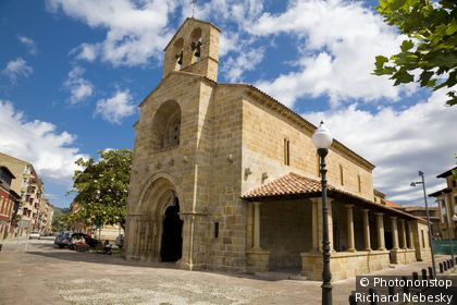 Espagne, Asturies, Villaviciosa, église Santa Maria de la Oliva