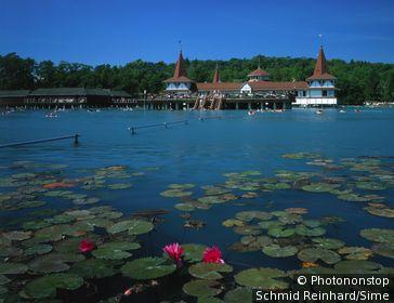 Hungary, Magyarország, Zala, Heviz thermal spa near Balaton lake