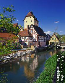 Allemagne, Bavière, Hersbruck, rivière Pegnitz