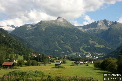 Vue sur Badgastein, au pied du Graukogel