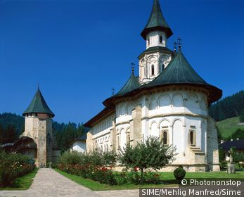 Romania / Bukowina / View of Putna monastery