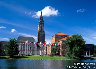 Germany / Schleswig-Holstein / Kiel / Town Hall, Opera House and townhouse