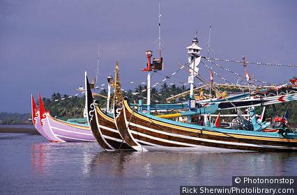 Perancak fishing fleet, Bali, Indonesia
