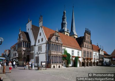 Germany / North Rhine-Westphalia, Nordrhein-Westfalen / Lemgo / Town Hall at the market, Ostwestfalen-Lippe