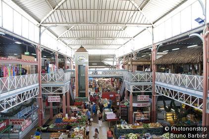 Polynésie Française,Tahiti, ville de Papeete, marché