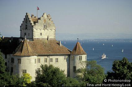 Meersburg castle, Meersburg, Lake Constance, Baden-Wurttemberg, Germany