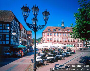 Germany / Rhineland-Palatinate, Rheinland-Pfalz / Neustadt an der Weinstrasse / Town Hall and the market square