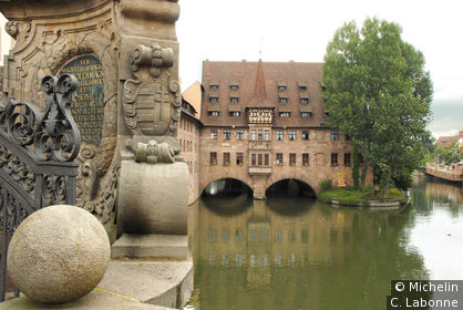 La Pegnitz et le Heilig-Geist-Spital
