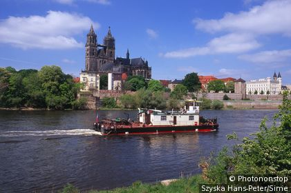 River Elbe with cathedral.