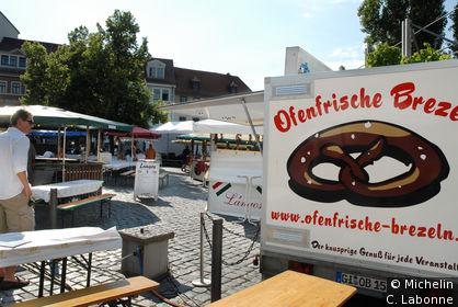 Une guinguette sur Frauenplan une dimanche en fin d'après-mid