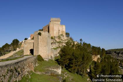Espagne, Castilla-la-Mancha, province de Cuenca, château d'Alarcon (hôtel Parador)