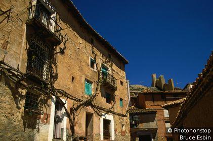 The Medieval town of Albarracin, a National Heritage Site. Albarracin, Aragon, Spain