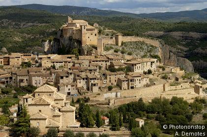 Espagne, Aragon, village d'Alquezar