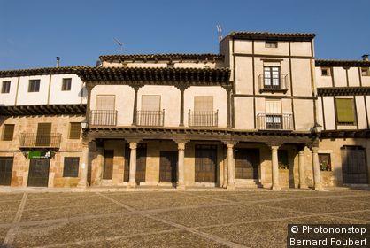 Espagne, Castille La Manche, province de Guadalajara, Atienza, Plaza del Trigo
