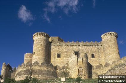 Espagne, Castille-la Manche, château de Belmonte