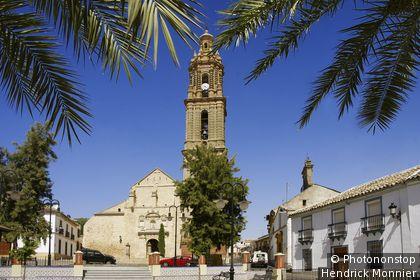 Espagne, Andalousie, province de Cordoue, Bujalance, Plaza de Santa Ana