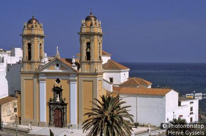 Maroc, ville de Ceuta ( Sebta ) (enclave espagnole), la cathédrale